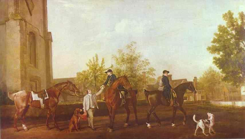 George Stubbs. Huntsmen Setting Out from Southill, Bedfordshire.