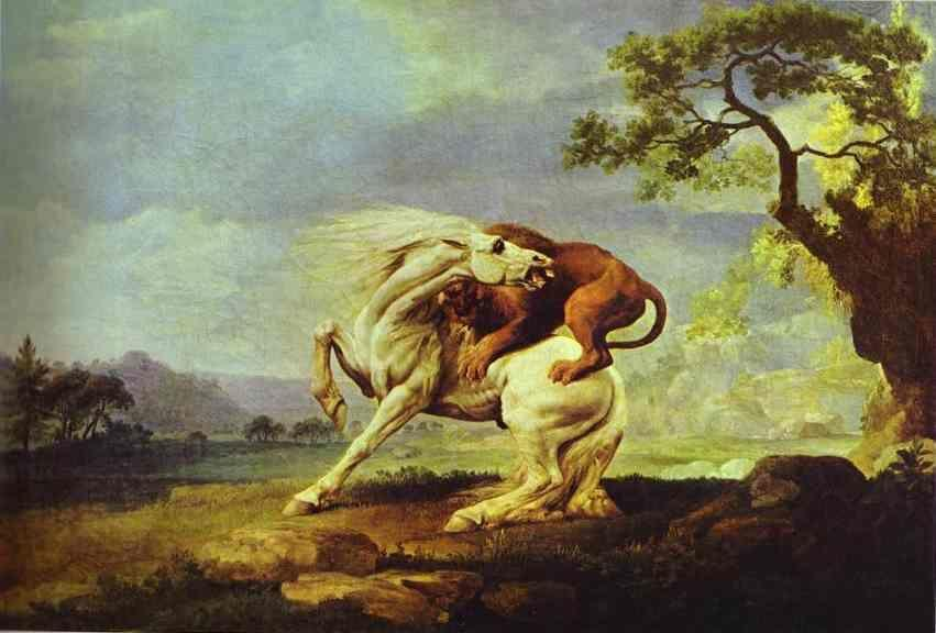 George Stubbs. Horse Attacked by a Lion.