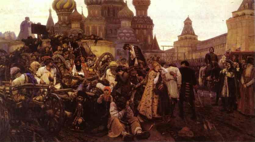 Vasily Surikov. Morning of the Strelets' Execution.