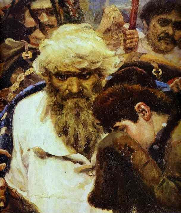 Vasily Surikov. Morning of the Strelets' Execution. Detail.