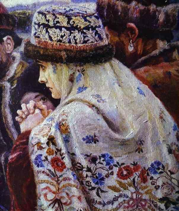 Vasily Surikov. The Boyarynia Morozova. Detail.