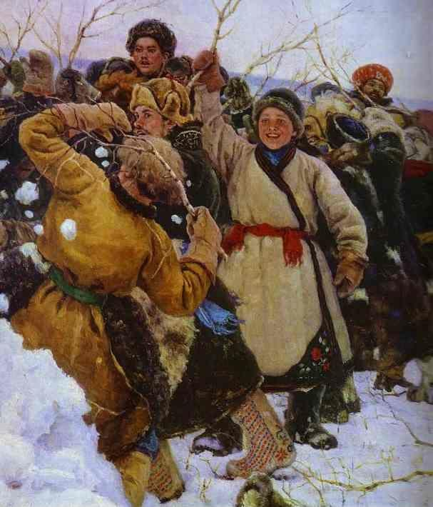 Vasily Surikov. The Taking of a Snow Fortress. Detail.