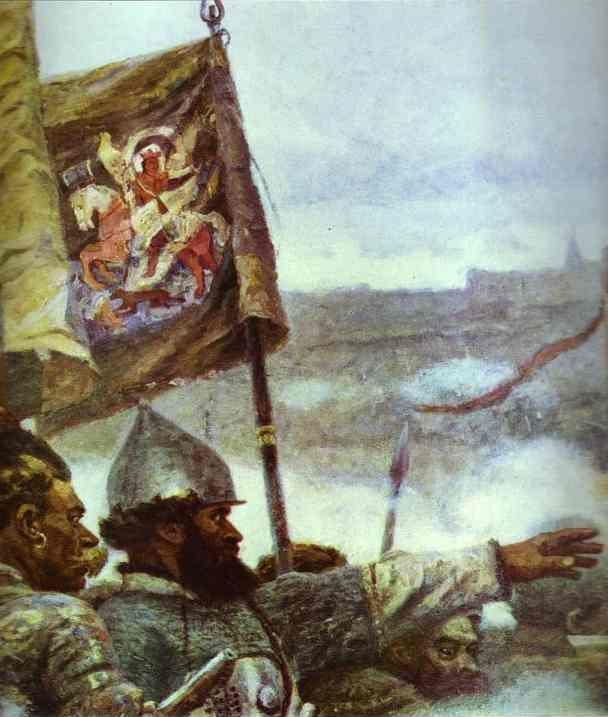 Vasily Surikov. The Conquest of Siberia by Yermak. Detail.