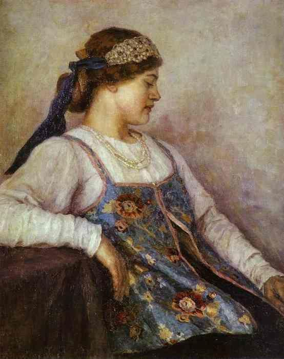 Vasily Surikov. Portrait of N. F. Matveyeva.