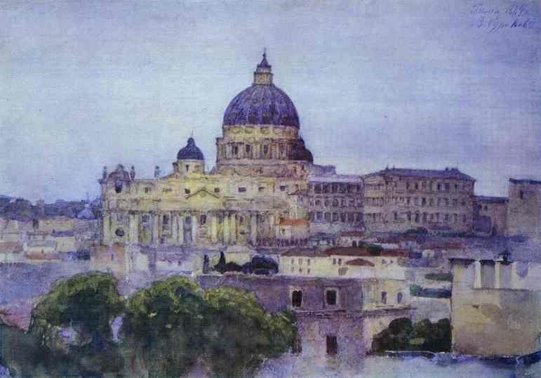 Vasily Surikov. St. Peter's Cathedral in Rome.