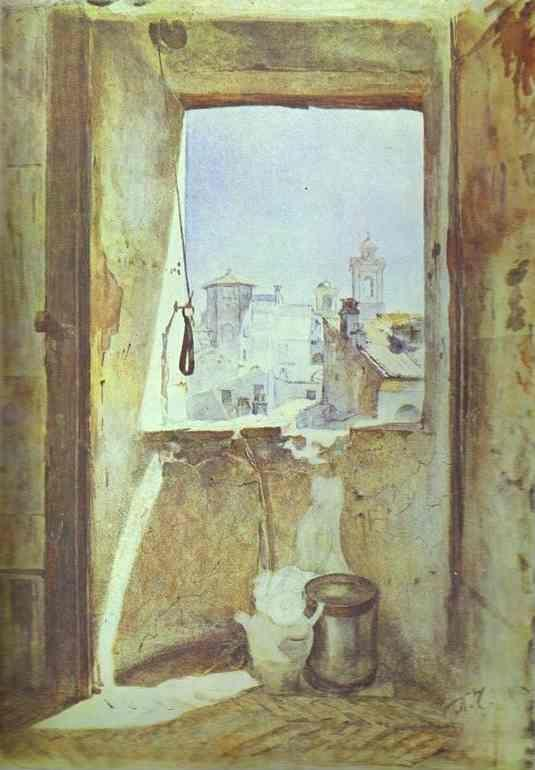 Pavel Tchistyakov. Window on Staircase to the Artist's Studio in Rome.