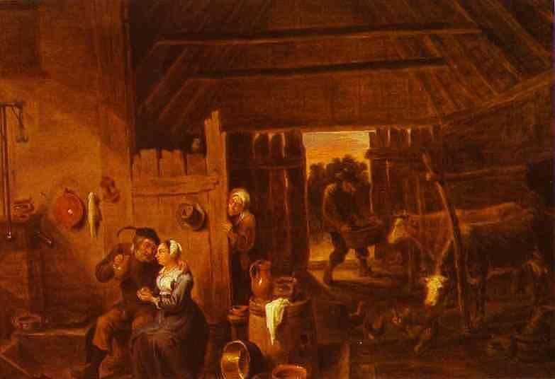 David Teniers the Younger. Flanders. In a Peasant Cottage.