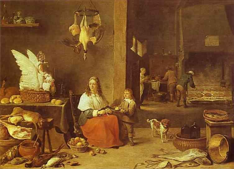David Teniers the Younger. Kitchen Scene.