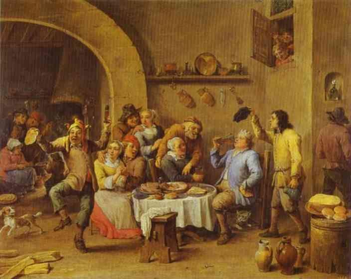 David Teniers the Younger. Twelfth Night (The King Drinks).