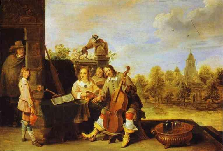 David Teniers the Younger. The Painter and His Family.