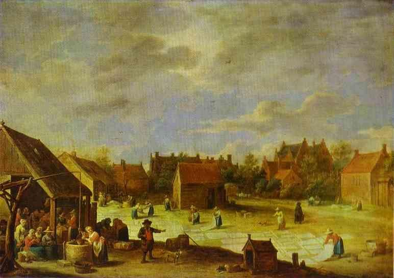 David Teniers the Younger. A Bleaching Ground.