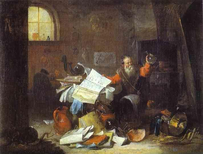 David Teniers the Younger. The Alchemist.