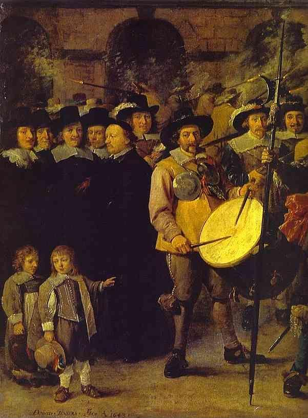 David Teniers the Younger. Members of Antwerp Town Council and Masters of the Armaments Guild. Detail.