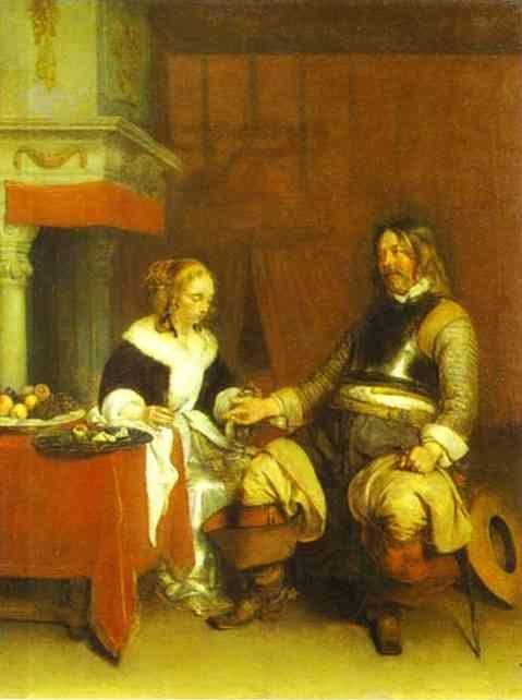 Gerard Terborch. The Military Admirer.