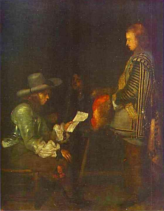 Gerard Terborch. An Officer Reading a Letter.