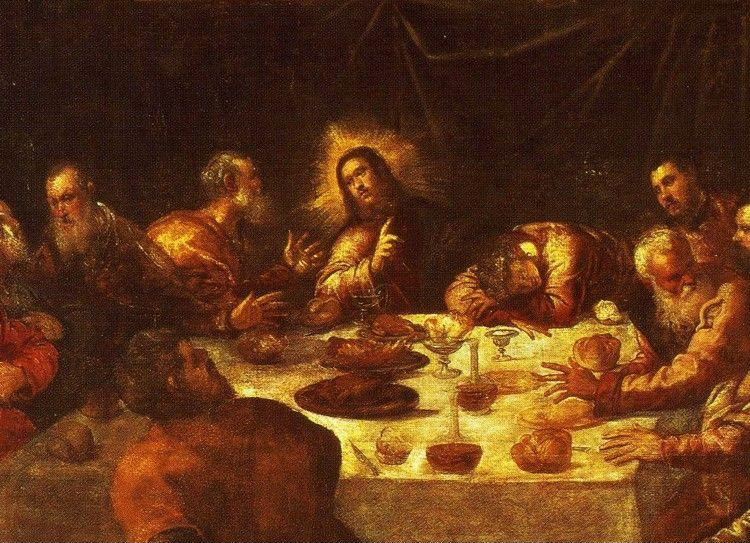 Jacopo Robusti, called Tintoretto. The Last Supper. Detail.