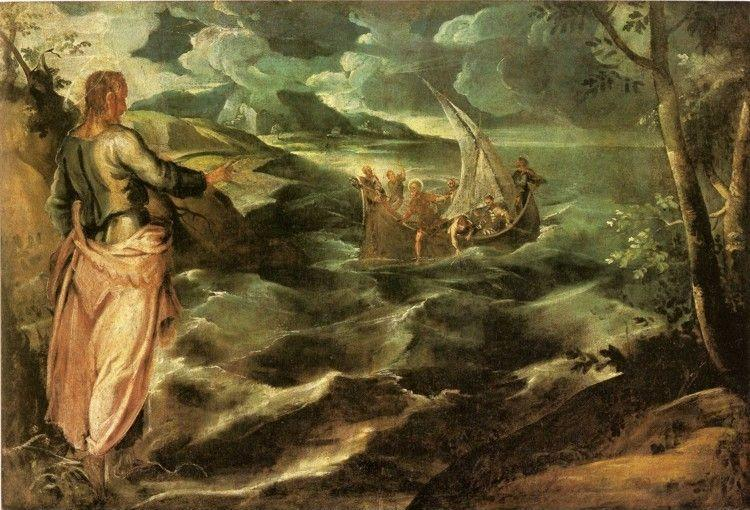 Jacopo Robusti, called Tintoretto. Christ at the Sea of Galilee.