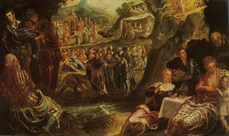Jacopo Robusti, called Tintoretto. The Worship of the Golden Calf.