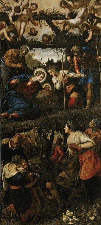 Jacopo Robusti, called Tintoretto with Domenico Tintoretto. Adoration of the Shepherds.
