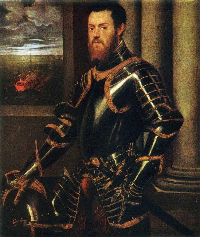 Jacopo Robusti, called Tintoretto. Portrait of a Warrior in Golden Coat of Arms.