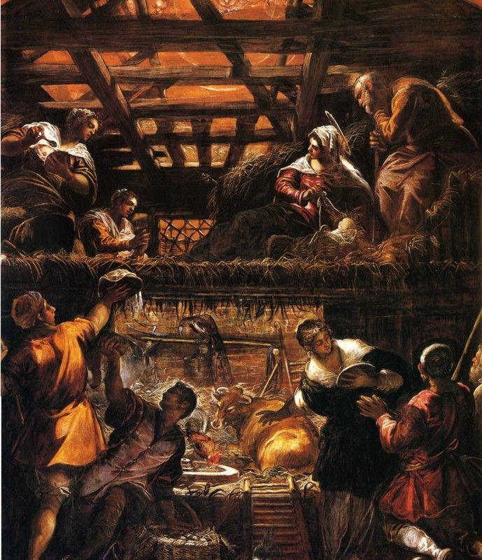 Jacopo Robusti, called Tintoretto. Adoration of the Shepherds.