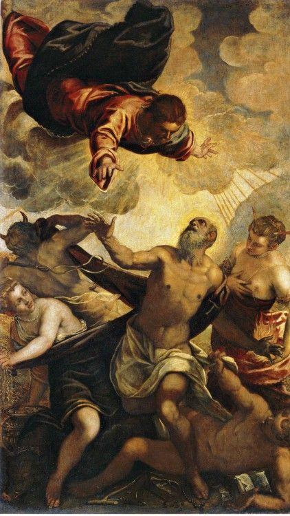 Jacopo Robusti, called Tintoretto. Temptation of Saint Anthony.