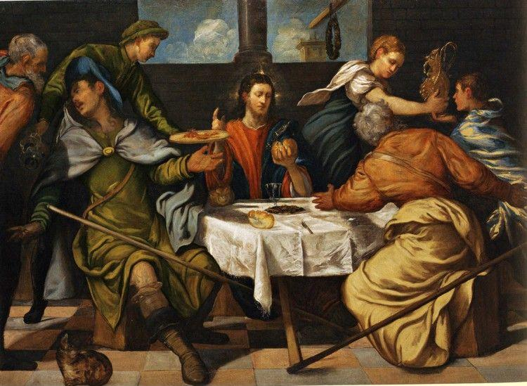 Jacopo Robusti, called Tintoretto. Supper at Emmaus.