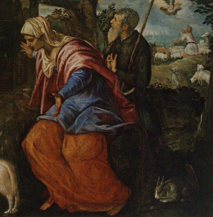 Jacopo Robusti, called Tintoretto. Nativity. Detail.