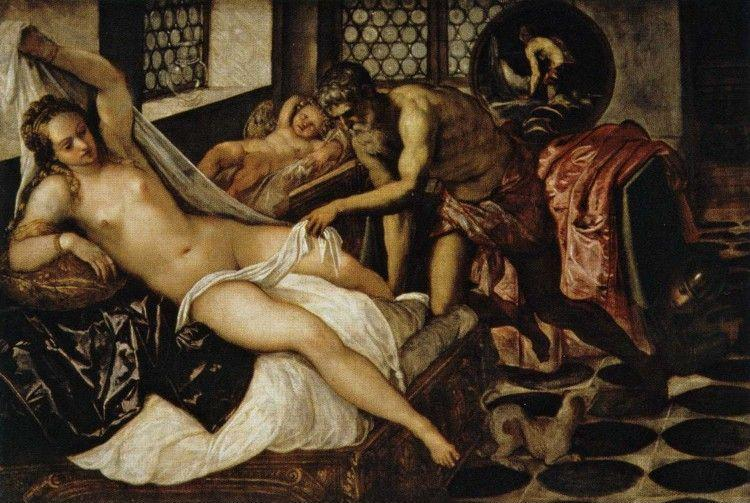 Jacopo Robusti, called Tintoretto. Venus and Mars Surprised by Vulcan.