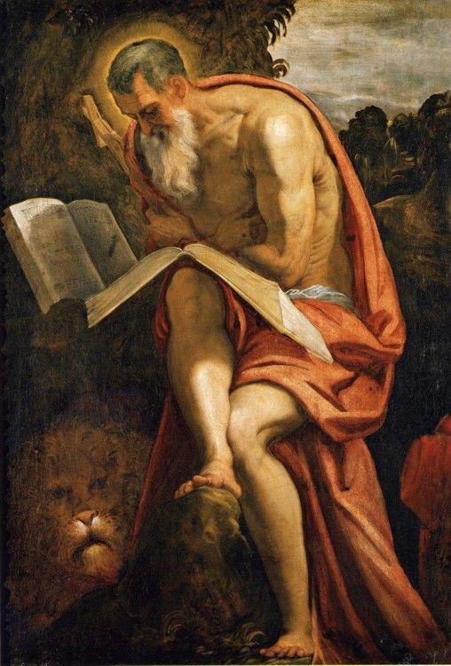 Jacopo Robusti, called Tintoretto. Saint Jerome in the Wilderness.