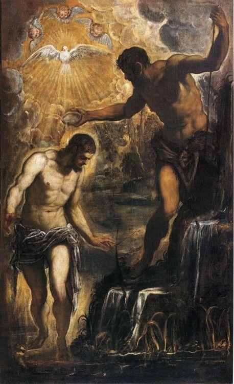 Jacopo Robusti, called Tintoretto. Baptism of Christ.