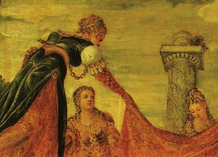 Jacopo Robusti, called Tintoretto. Esther before Ahasuerus. Detail.