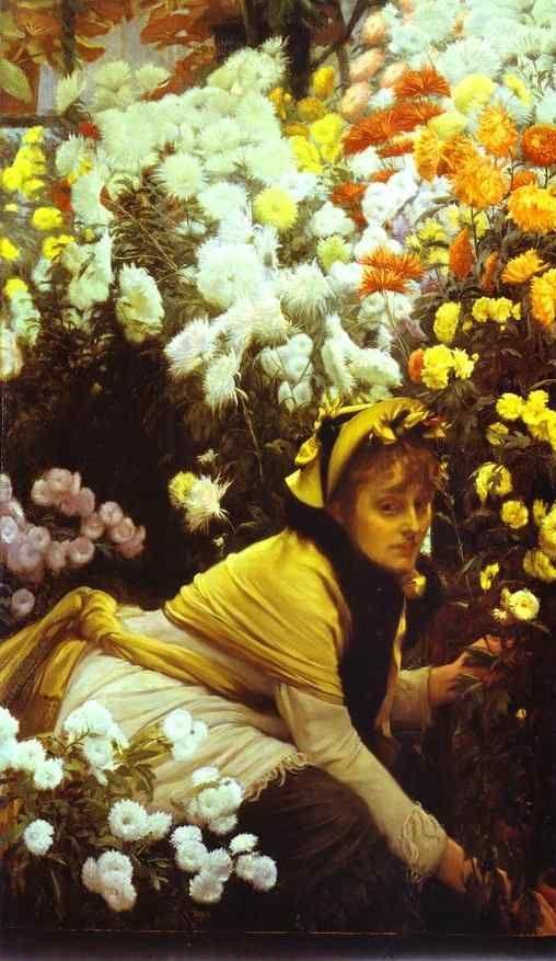 James Tissot. Chrysanthemums.