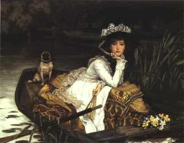 James Tissot. Young Lady in a Boat.