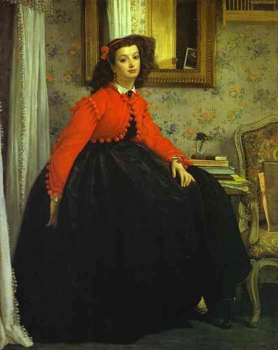 James Tissot. Portrait of Mlle L.L. (Young Woman in Red Vest).