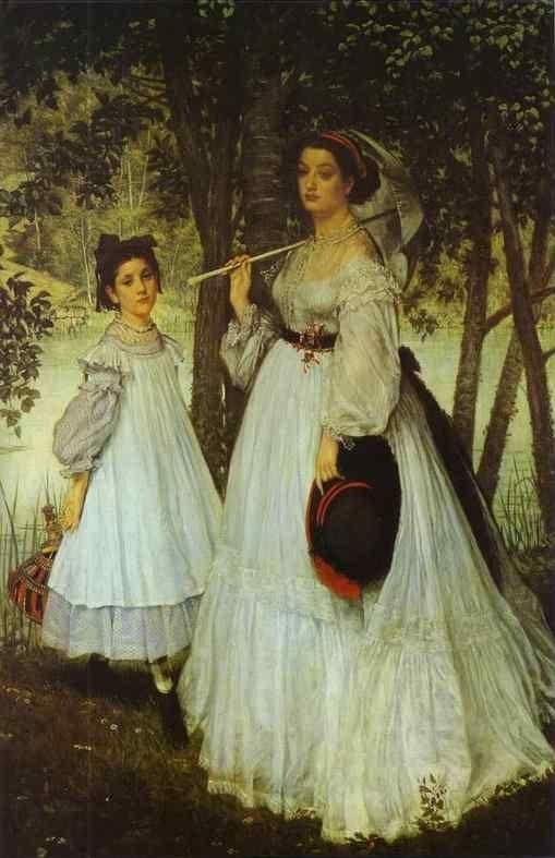 James Tissot. Two Sisters.