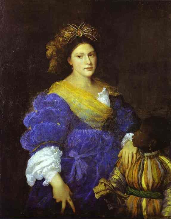 Titian. Portrait of Laura de Dianti.