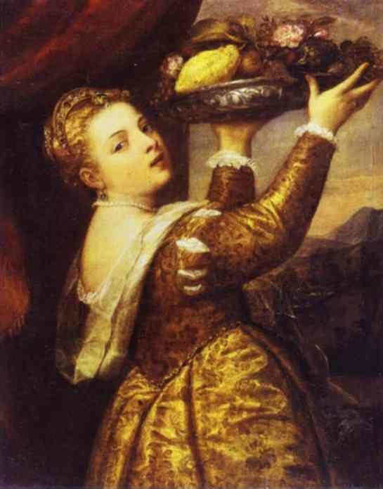 Titian. Woman with a Fruit Bowl.