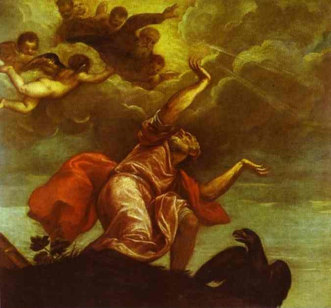 Titian. St. John the Evangelist on Patmos.