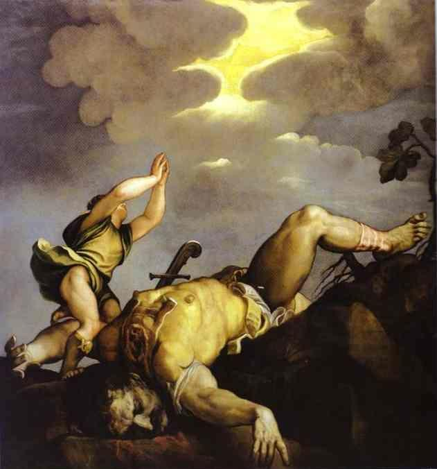 Titian. David and Goliath.