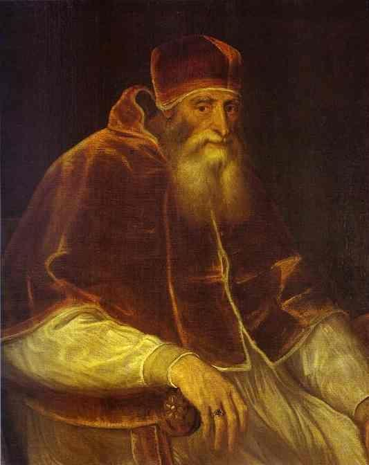 Titian. Portrait of Pope Paul III.