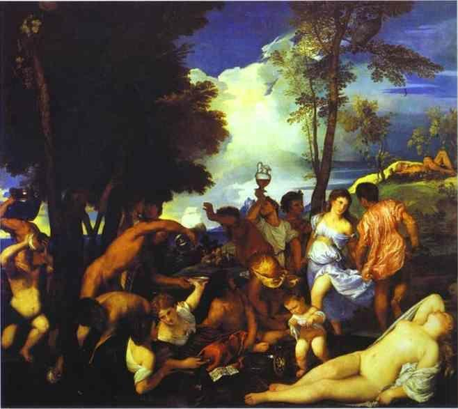 Titian. Bacchanal of the Andrians.