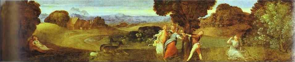 Titian. The Birth of Adonis.