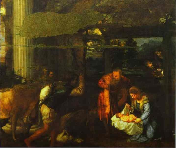 Titian. Adoration of the Shepherds.
