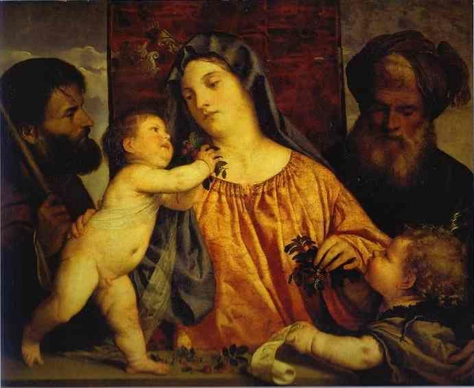 Titian. Madonna of the Cherries.