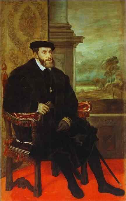 Titian. Portrait of Emperor Charles V Seated.