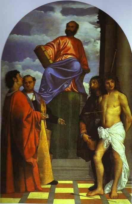 Titian. St. Mark Enthroned with Saints.