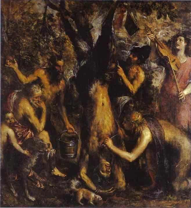 Titian. The Flaying of Marsyas.