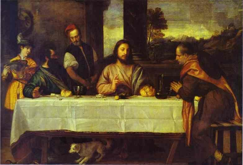 Titian. The Supper at Emmaus.