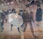 Henri de Toulouse-Lautrec. Dancing at the Moulin Rouge: La Goulue and Valentin de Désossé.